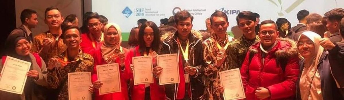 Raih 1 Medali Emas, 2 Medali Perak, 3 Medali Perunggu, dan Excellent Invention (Special Award From Thailand) pada Seoul International Invention Fair(SIIF) – (Tingkat Internasional)
